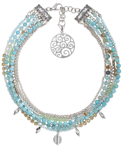 Crystal Blue Sea Necklace